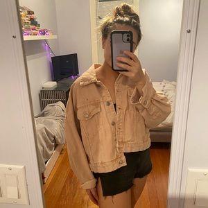 ZARA Pink oversized jean / denim jacket
